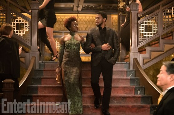 Marvel Studios' BLACK PANTHER L to R: Nakia (Lupita Nyong'o) and T'Challa/Black Panther (Chadwick Boseman) Credit: Matt Kennedy/©Marvel Studios 2018
